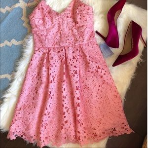 NWT pink lace dress! Bridesmaids or Spring dress!